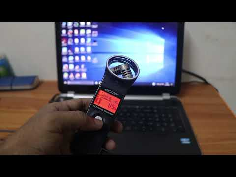 zoom h1 as usb mic on laptop/PC
