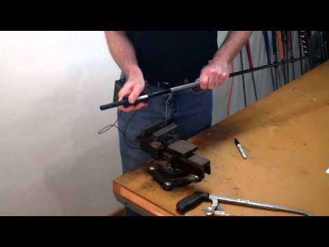 How To Assemble a Custom Golf Club Part 8 - How To Cut A Golf Shaft To Length