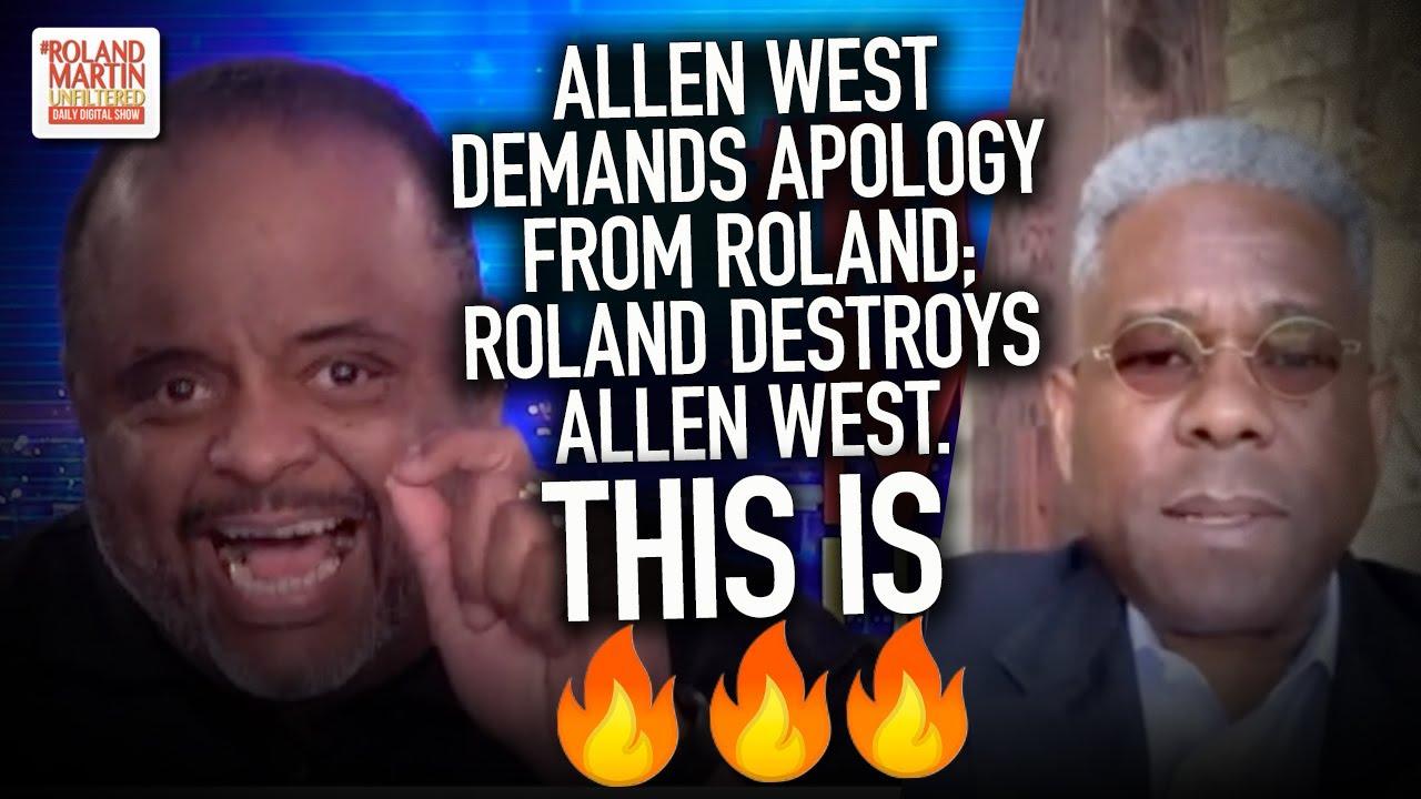 Allen West demands apology from Roland; Roland DESTROYS Allen West. This is 🔥🔥🔥