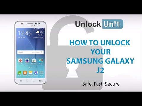 HOW TO UNLOCK Samsung Galaxy J2