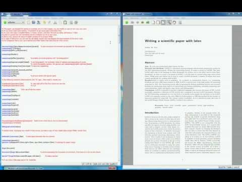 Latex BibTex how to write a scientific paper example