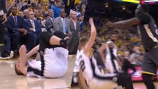 Draymond Green CUSSES OUT Davis Bertans After Flagrant Elbow!   2018 NBA Playoffs