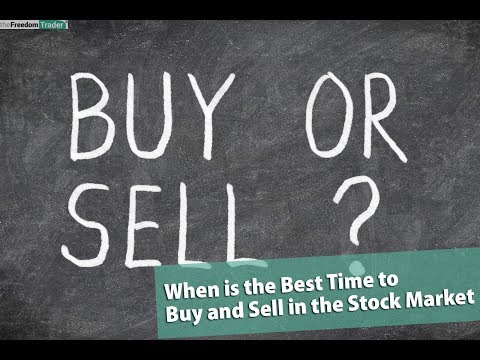 When is the Best Time to Buy and Sell in the Stock Market