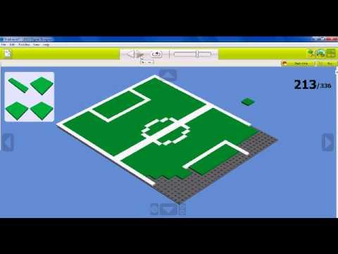 Building a stadium in LEGO Digital Designer