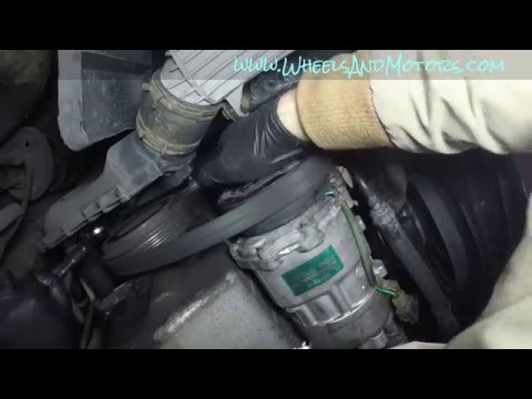 How to replace auxiliary (serpentine) belt and tensioner on VW Golf Mk4 1.9tdi