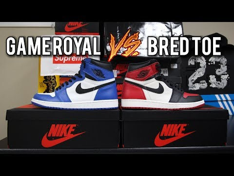Air Jordan 1 Bred Toe vs Game Royal Comparison | Quality, Colourway, Resell Value, Etc