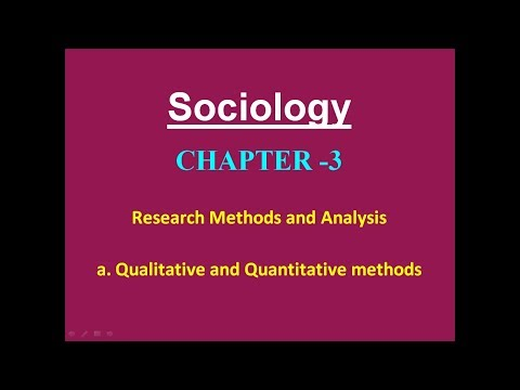 Sociology for UPSC : Quantitaive & Qualitative Methodologies - Chapter 3 - Paper 1 - Lecture 60