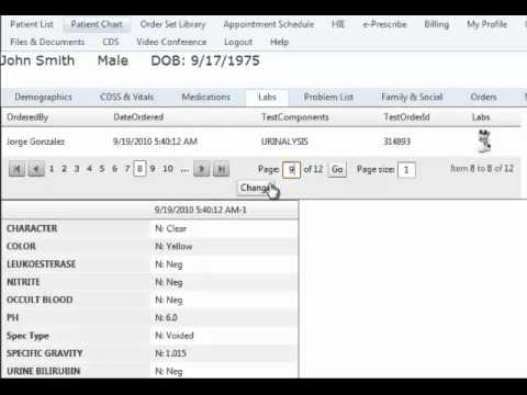 Accessing lab test results using Clinical Genius