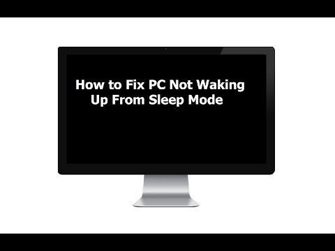 How to Fix PC Not Waking Up From Sleep Mode In Windows 10/8.1/7