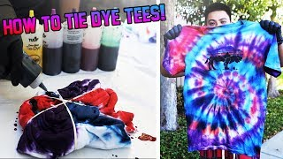 HOW TO TIE-DYE T-SHIRTS TUTORIAL! (SATISFYING)