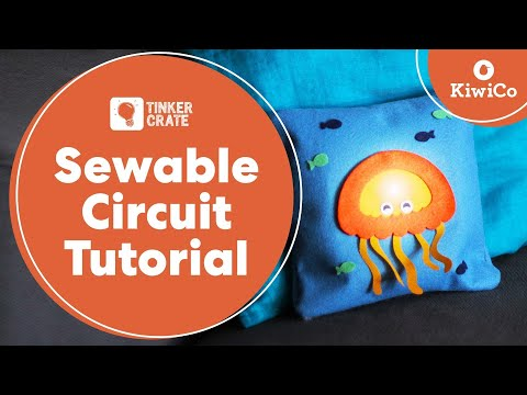 Stitch a Sewable Circuit Light-Up Pillow - Tinker Crate Project