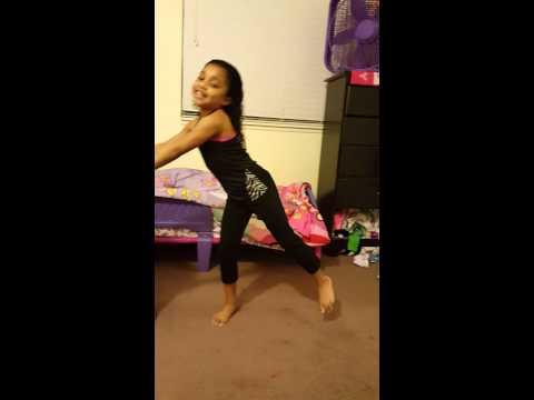Gymnastic girl arm strength