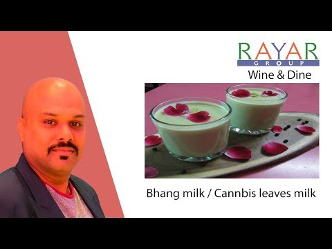 How to make Bhang milk  at home