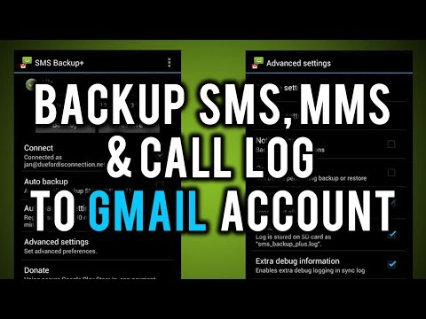 Backup Your SMS, MMS and Call Log Automatically to Google Gmail Account