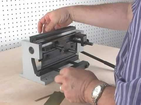 Demonstration of Micro-Mark #82820 Mini Metal Shear / Brake