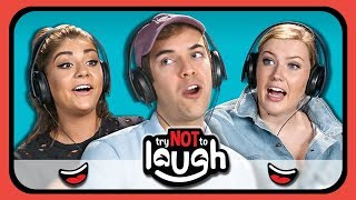 YouTubers React to Try to Watch This Without Laughing or Grinning #21