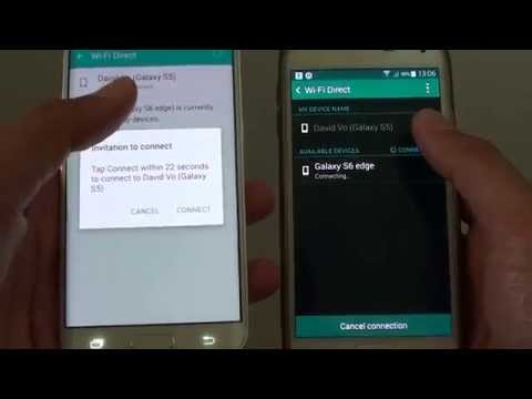 Samsung Galaxy S6 Edge: How to Setup Wi-Fi Direct Connection for File Transfer
