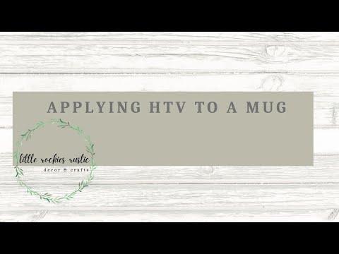 Using HTV Vinyl on a Mug | Cricut Tutorial
