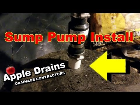 How To Install Sump Pump and Discharge the Water