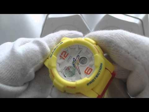 Yellow Casio Baby G Tide Graph Ana Digi Watch BGA180-9B