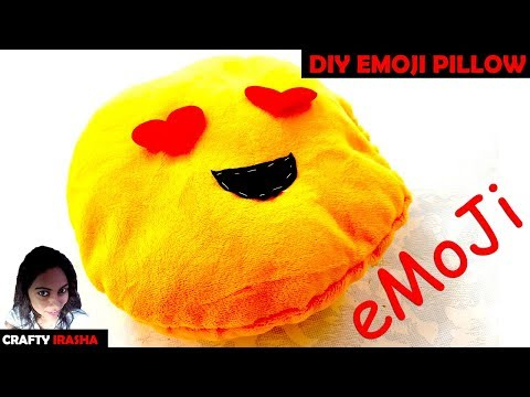 How To Make Emoji Pillow (Tutorial) - DIY MEME Round Pillows