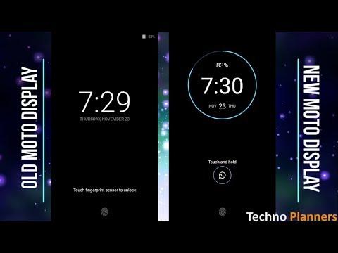 New Moto X4 Display on all Moto G4 Plus, G4, G5 Plus, G5, Moto Z, Z2