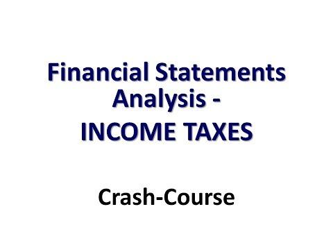 FINANCIAL STATEMENT ANALYSIS   Syllabus   ADVANCED  10 INCOME TAXES
