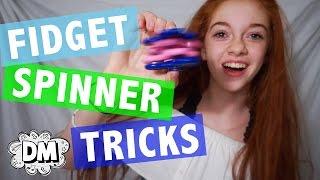 Fidget Spinner Tricks, Fidget Cube & Slime Review!   Alyssa Vlogs