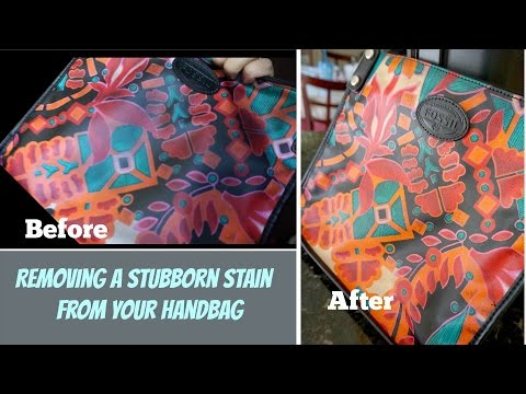 How To: Removing A Stubborn Stain From Your Handbag - SimplyyTania