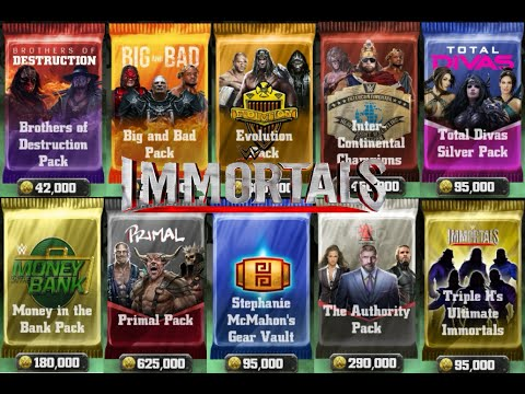 WWE IMMORTALS - Patch 2.0 HUGE NEW BOOSTER PACK OPENINGS!!!!!!