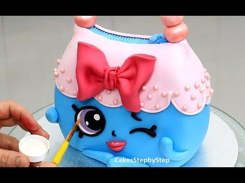 How To Make SHOPKINS CAKE, Handbag Harriet  by Cakes StepbyStep