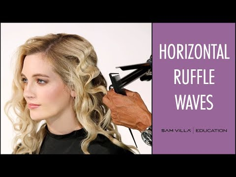 How To Create Horizontal Waves With a Marcel Iron | Ruffled Waves