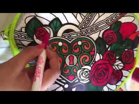 DIY Color your own bag with magic color changing markers!!!