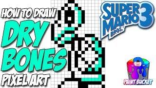 How To Draw Super Mario Bros 3 Piranha Plant Smb3 Pixel Art