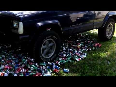 HOW TO CRUSH 2,500 COKE CANS IN 5 MINS