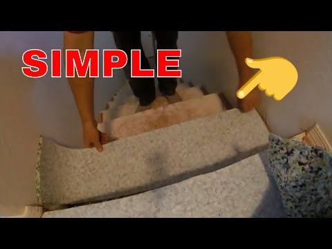 Fast way to cut carpet pad for steps