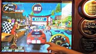 The Fast And The Furious Drift Arcade Game Video Gameplay With The 4 Kids From Toy Hunting Gamers
