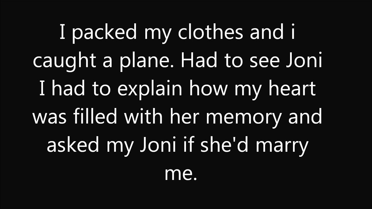 Don't Cry Joni ~ Lyrics
