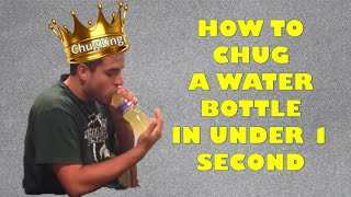 How to Drink a Water Bottle in Under 1 second
