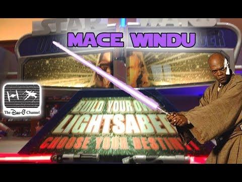Star Wars   Build your own Mace Windu Lightsaber toy at Disneyland