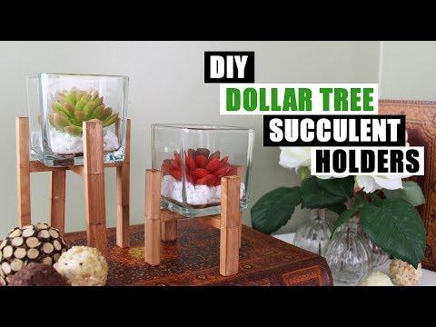 DIY DOLLAR TREE SUCCULENT HOLDERS DIY Home Decor