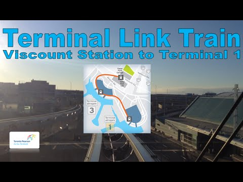Terminal Link Train - Toronto Pearson Airport 2006 Link Train (Viscount Stn to Terminal 1 Stn )