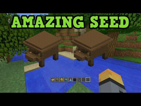 Minecraft Xbox 360 + PS3 Seed - 2 Witches Hut + 6 NPC Villages - TU20