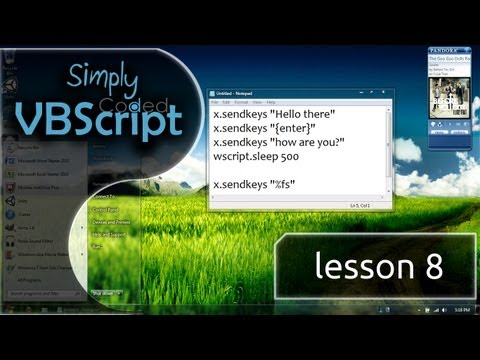 VBScript Basics, Part 8 | SendKeys