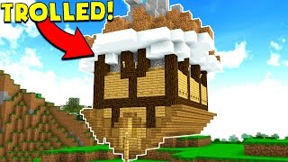 TURNING PLAYERS HOUSES UPSIDE DOWN! (Minecraft Trolling)