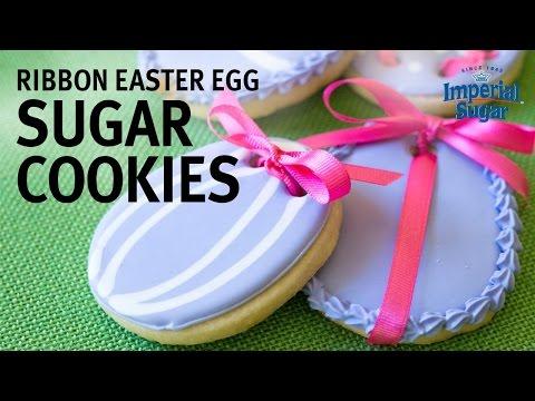 How to Make Ribbon Easter Egg Sugar Cookies