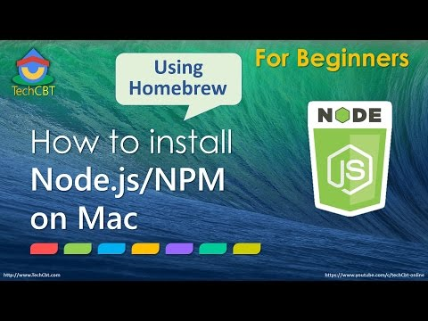How to install Node.js and Node Package Manager (NPM) on Mac OSX