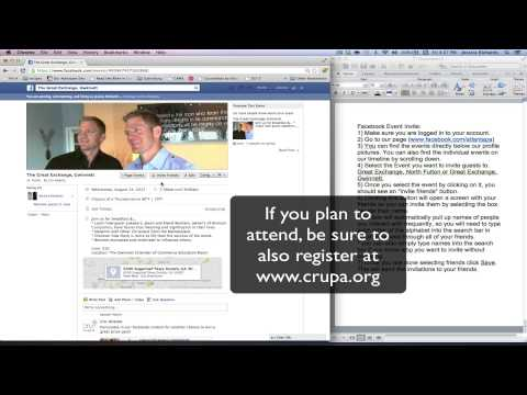 Facebook Event Invitation Instructional