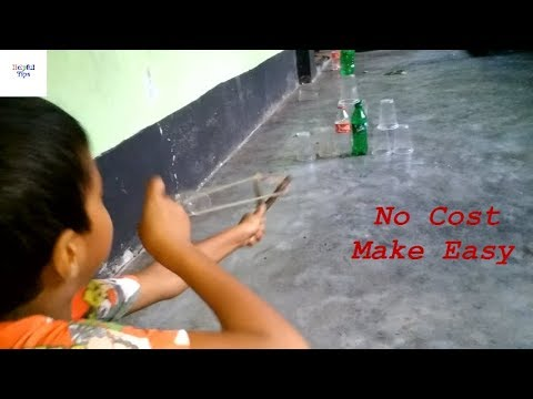 How to Make a Slingshot at Home || The Rules For Making Slingshot Easily With Condom