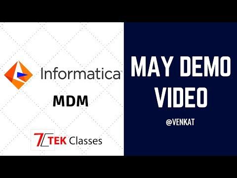 Informatica MDM Latest Demo Video 12 May.